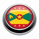 circle, country, flag, flags, grenada, nation icon
