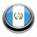 flag, country, nation, guatemala, flags, circle icon