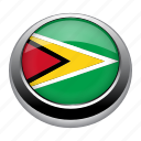 circle, country, flag, flags, guyana, nation, national icon