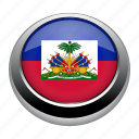 circle, country, flag, flags, haiti, national icon