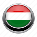 circle, country, flag, flags, hungary, nation icon