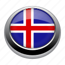 circle, country, flag, flags, iceland, nation icon