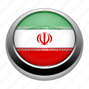 circle, country, flag, flags, iran, nation icon