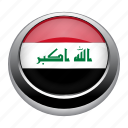 circle, country, flag, flags, iraq, national icon
