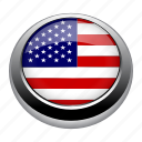 america, circle, country, flag, flags, nation icon