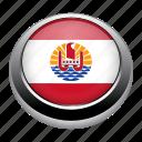country, flags, french, french polynesia, nation, polynesia icon