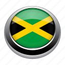 circle, country, flag, flags, jamaica, nation icon