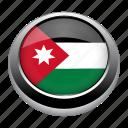 circle, country, flag, flags, jordan, national icon