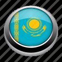 circle, country, flag, flags, kazakhstan, nation icon