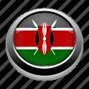 circle, country, flag, flags, kenya, nation, national icon
