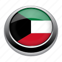 circle, country, flag, flags, kuwait, national icon