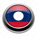 circle, country, flag, flags, laos, nation icon