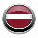 circle, country, flag, flags, latvia, nation icon