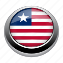 circle, country, flag, flags, liberia, national icon