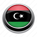 circle, country, flag, flags, libya, national icon