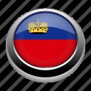 circle, country, flag, flags, liechtenstein, nation icon