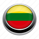 circle, country, flag, flags, lithuania, nation icon