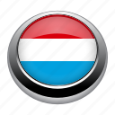 circle, country, flag, flags, luxembourg, nation icon