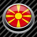 circle, country, flag, flags, macedonia, nation icon