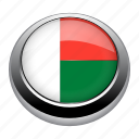 circle, country, flag, flags, madagascar, nation icon