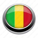 circle, country, flag, flags, mali, nation icon