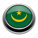 circle, country, flag, flags, mauritania, nation icon