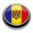 circle, country, flag, flags, moldova, nation icon
