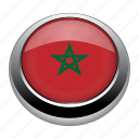 circle, country, flag, flags, morocco, nation icon