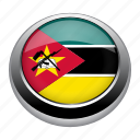 circle, country, flag, flags, mozambique, nation icon