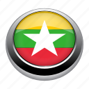 circle, country, flag, flags, myanmar, nation icon