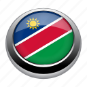 circle, country, flag, flags, namibia, nation icon
