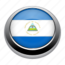 circle, country, flag, flags, nation, nicaragua icon