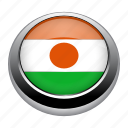 circle, country, flag, flags, nation, niger icon