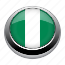 circle, country, flag, flags, nation, nigeria icon