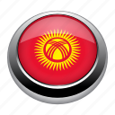 circle, country, flag, flags, kyrgyzstan, nation icon