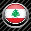 circle, country, flag, flags, lebanon, nation icon