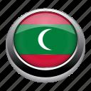 circle, country, flag, flags, maldives, nation icon