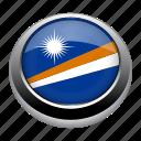 country, flag, islands, marshall, marshall islands, nation icon