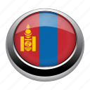 circle, country, flag, flags, mongolia, nation icon