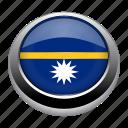 circle, country, flag, flags, nation, nauru icon