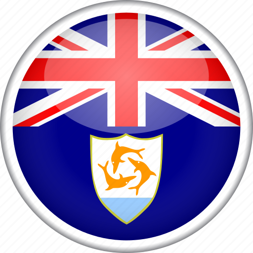 anguilla, circle, country, flag, national icon