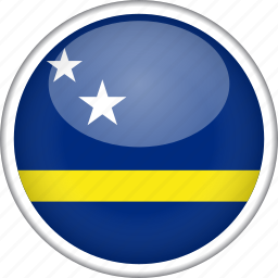 circle, country, curacao, flag, national icon