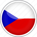 circle, country, czech, flag, national icon