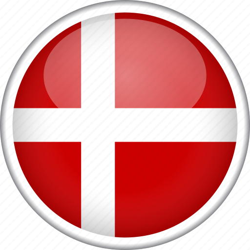 circle, country, denmark, flag, national icon