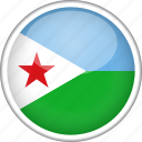 circle, country, djibouti, flag, national icon