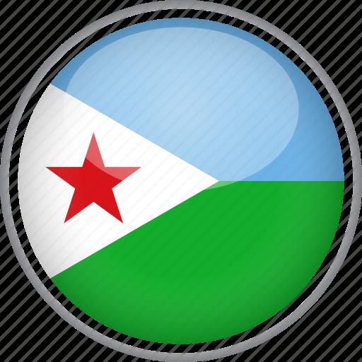 circle, country, djibouti, flag, national icon