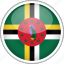 circle, country, dominica, flag, national icon
