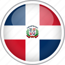 circle, country, dominican republic, flag, national icon
