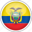 circle, country, ecuador, flag, national icon