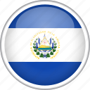 circle, country, el salvador, flag, national icon
